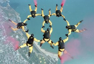 Group of Skydivers