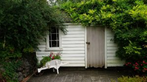 An outdoor shed