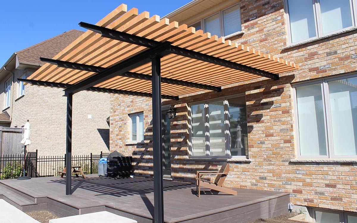 Customised steel and timber pergola | Pergola Designs Western Australia