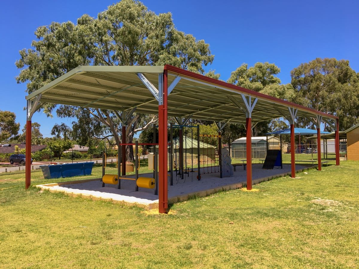 Shade Structure covering playground - Outdoor World